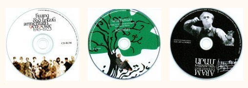 Armenian Multimedia CD/DVD-ROMs (© Photo courtesy of Asbarez.com)